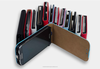 Radiation-free Luxury PU leather Flip case for iPhone 4 / 4s / 5 w/Magnet clip