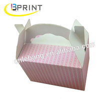 Lovely favour custom carry food cake packaging paper box