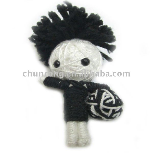 Unique Design Football Series Of string voodoo doll; Little Doll Pendant Keychains