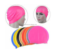 Customized Pattern or Logo Flexible Soft Round Silicone Waterproof Swimming caps