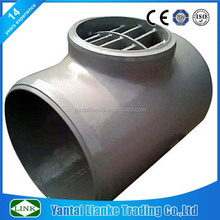 316/304 stainless steel welding barred tee pipe fittings