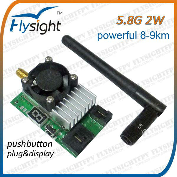 5.8Ghz 2W wireless av transmitter for rc p51 mustang