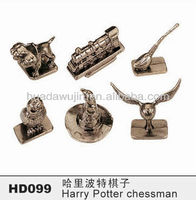 Harry potter Chessman/metal game pawn/Fashion Alloy Charm decoration