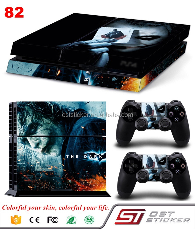 New Skin Sticker for Sony PS4 and 2 Controllers for Joker batman Skin Decals