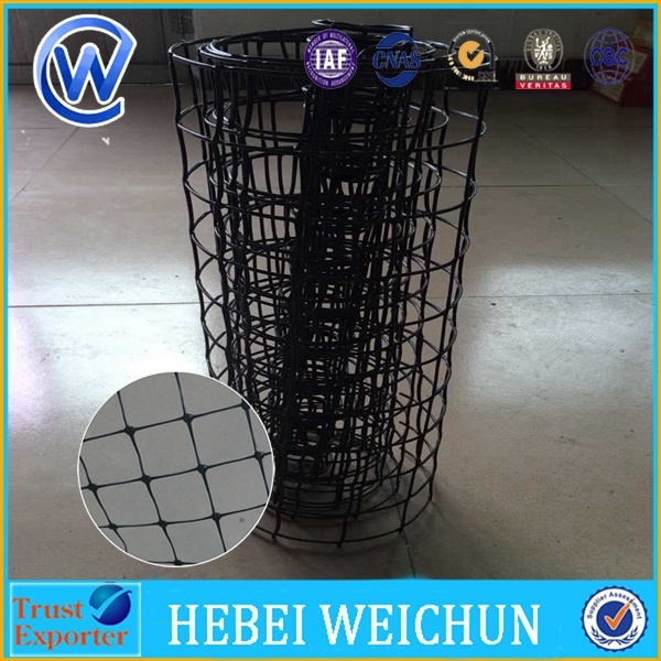 Heavy Duty Plastic Mesh Anti Mole Netting / Mole Stop Net