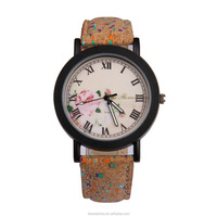 2016 vintage ladies alloy watch, flower design dial beautiful watch