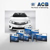 ACB automotive touch paint car paint chip 2K paint colors