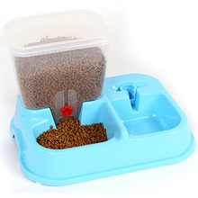 Pet Food Storage Container Pet Water Bottle Automatic Pet Feeder Plastic Mixing Dog Bowl