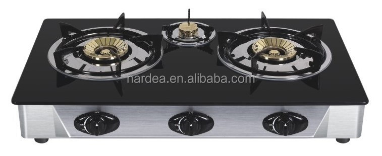 Tempered glass gas 3 burner Gas stove /Gas hob/Gas cooker