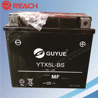 YTX5A-BS 12V 5Ah Sealed Lead Acid Maintenance Free Motorcycle Battery