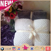 Super King Size Mink Solid Color 100% Polyester Ceramic White Flannel Fleece Fiber Thick Throw Blanket for Bed Setting/Sofa