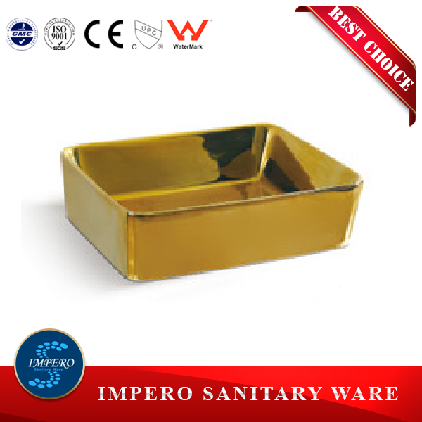 gold golden porcelain color outdoor wash basin sink