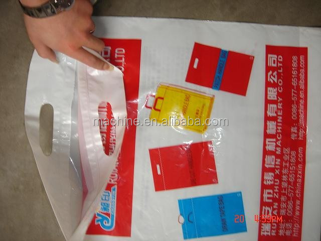 PE patch handle die cut Bag Making Machine