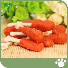 Wholesale service chicken leg shaped dog chews pet dog snack