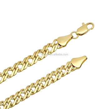 Men's 7mm 14K Yellow Gold-Plated Double Layered Venetian Link Chain
