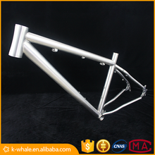 High light titan inner routing road bike frame ti 48cm racing bicycle frames with taper head tube customized touring frame