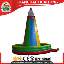 CE approved PVC material indoor inflatable rock climbing wall