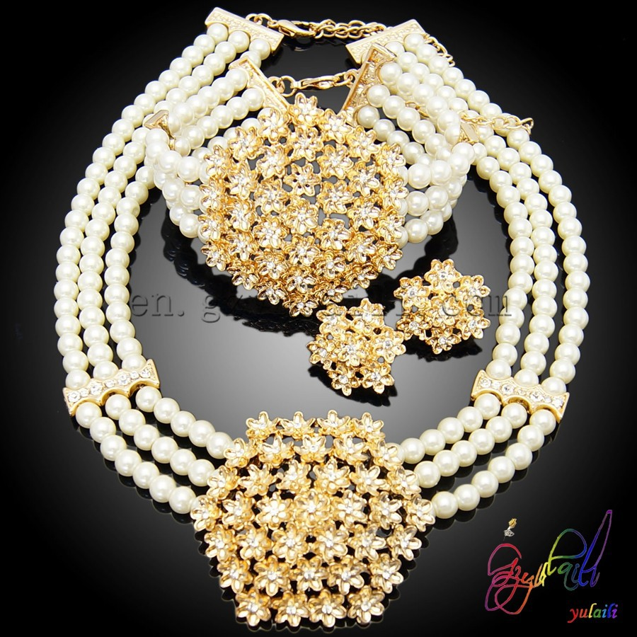 fake pearl bead necklace set indian bridal pearl necklace