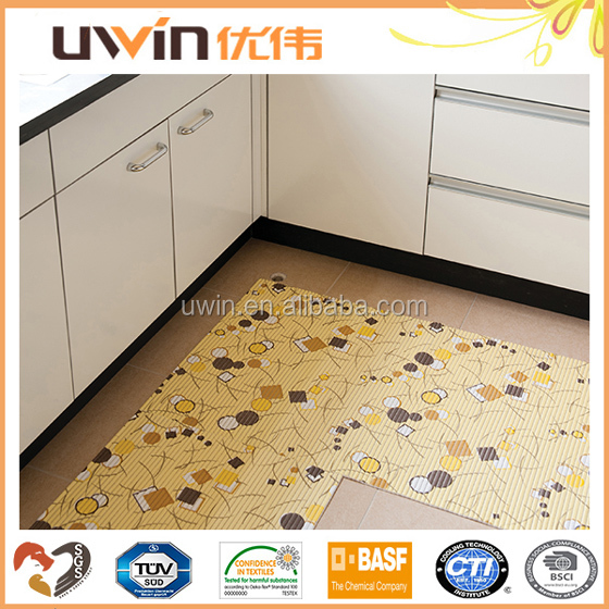 Kitchen floor mat pvc foam used anti slip restaurants carpet design