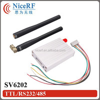2015 5KM RF Module SV6202 Wireless FSK Receiver and Transmitter 433 mhz TTL RS232 RS485 Serial 2W High Power Perfomance