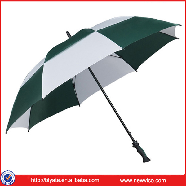 Manufacturer Custom Sports Style Air Vented Golf Dual Canopy Umbrellas