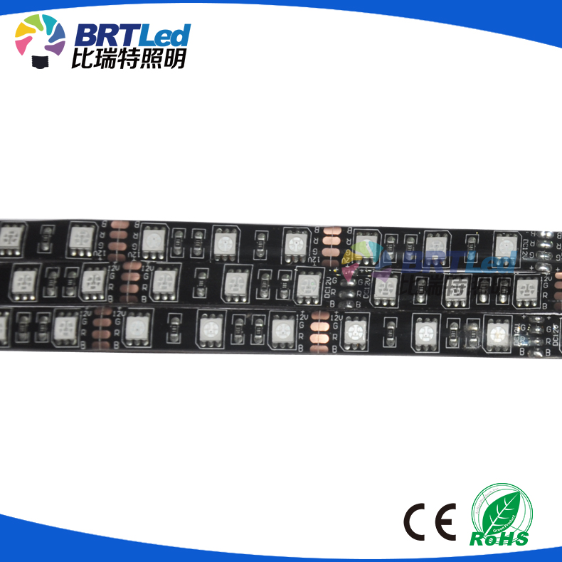 flexible black pcb smd 5050 led strips 12v