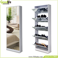 modern full length mirror shoe cabinet with 5 drawers