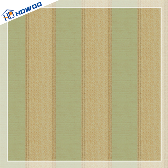 Howoo Pvc Coated Paper Plastic Wall Covering Wallpaper For