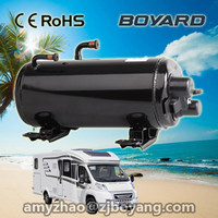 highly quantity save installation space horizontal compressor with R407c for limousine rooftop van air conditioner