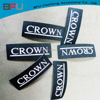 Custom High quality woven Iron on labels