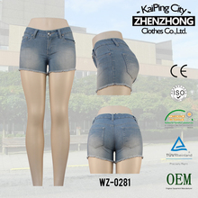 S126844-c1 2014 Fashion design top sale lady short jeans manufactory big certificated factory