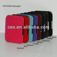 for Nook Simple Touch GlowLight various colors available prefect design pu leather case