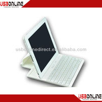 2014 hot sale 3 in 1 bluetooth keyboard Case with 360 Degree Rotary Separable Stent for ipad 2,white