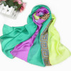 Classic mixed color new authentic Korean long chiffon scarf for women
