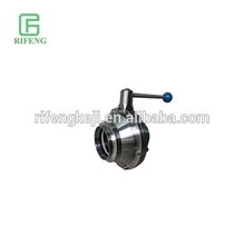 Hygienic Sanitary Inox Stainless Steel Welding Butterfly Type Ball Valve