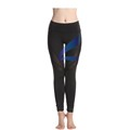 Lotsyle Black Yoga Leggings Womens Running Pants with Different Mesh Designs