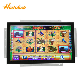 USB and RS232 port 21.5''pog wms capacitive touch screen monitor for gaming machine