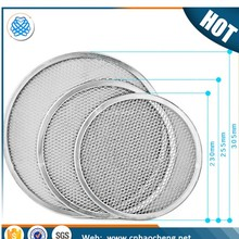 Fine mesh seamless rims aluminium pizza baking screen