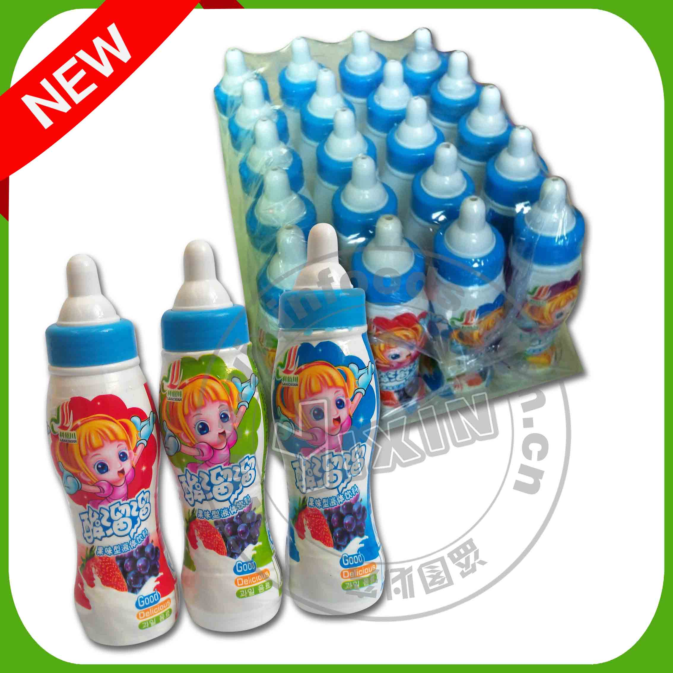 Nipple plastic bottle toy candy with drink