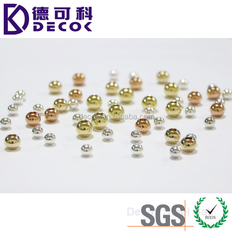 SGS approved 6mm gold plated 8mm silver plated 10mm rose gold plated jewelry beads
