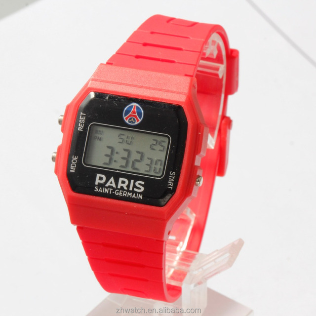 Cheap plastic electronic digital watch& Variety of color
