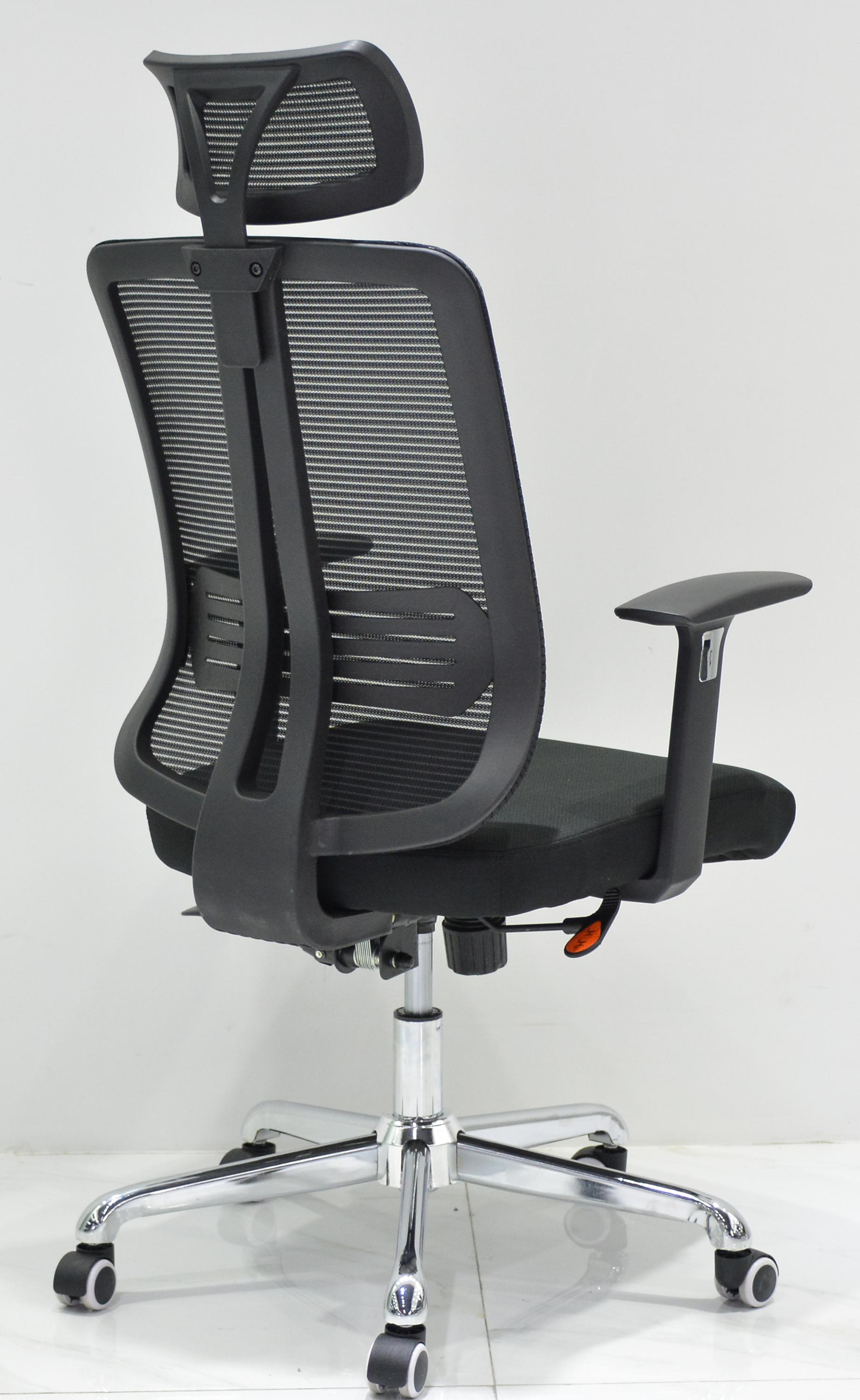 black mesh conference guest arm chair