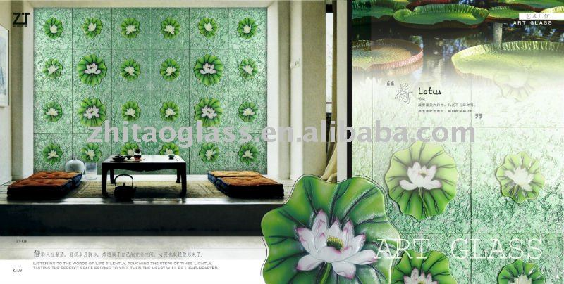 Hot sale home decorative art glass exterior wall panel