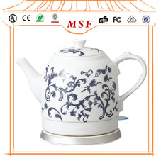 Cordless Ceramic Electric Tea Kettle with Chinese Rose