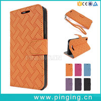 Woven Pattern Folio Stand Pu Leather Wallet Cell Phone Case For Samsung Galaxy Note 7