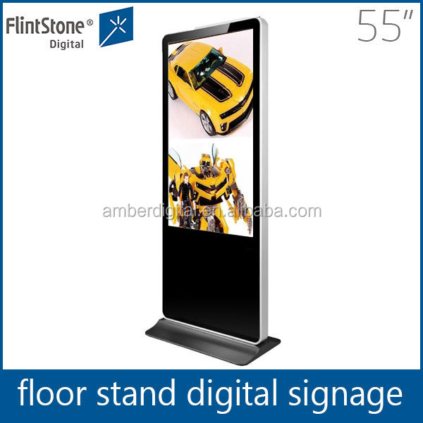 Flintstone 55 inch Indoor LCD Stand Video Display,HD Interactive Showcase digital signage