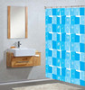 Hotel Bath Shower Curtain Leaf pattern Curtain PEVA Bright Color Shower Curtains