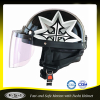 With visor racing moto helmet,mini electric bikes helmet ,open half style helmet