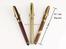 natural wooden fountain pen engraved with your company logo