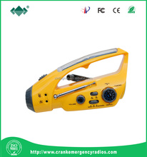 Fashion Promotional Gift Multifunctional Crank Dynamo Torch, AM & FM Radio, Cellphone Charger
